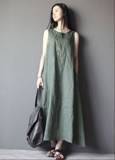 New fashion 2015 summer women's casual linen cotton long dresses,sleeveless embroidery maxi dress plus size-in Dresses from Women's Clothing & Accessories on Aliexpress.com | Alibaba Group
