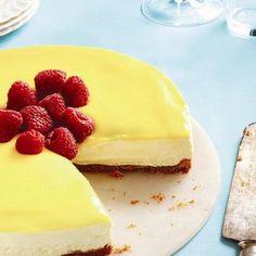 No-bake lemon mascarpone cheesecake. Great Gatsby party