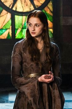 Sansa Stark ~ Beautiful, loyal & innocent. She has some of the finest gowns, with really inspiring textile details. #GoT #Costumes #Gameofthronescostume