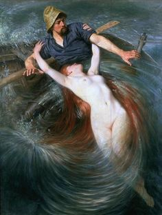 """""""The Fisherman and the Siren"""" by Knut Ekvall.  Seriously adapting this for a new mermaid tattoo."""