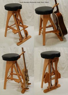 Guitar Stool / Stand  by South Mountain Woodworks                                                                                                                                                     More