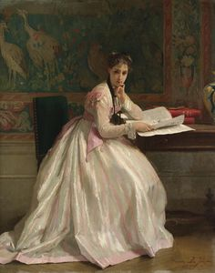 monsieurleprince:    Gustave de Jonghe (1829 - 1893) - A moment of distraction