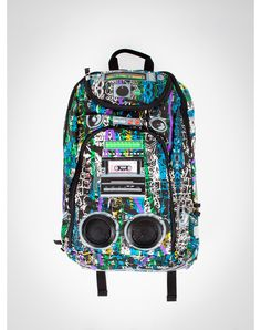 Scribble Graffiti Audio Backpack - booming sound for your backpack; insane!