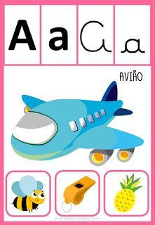 Pedagogiccos Alfabeto Ilustrado Com Imagens Alfabeto Para