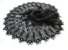 Black Knit Shawl Knit Shawl Lace Shawl Black Lace by aboutCRAFTS, $97.00