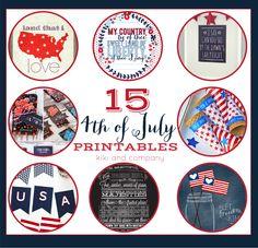 15 4th of July Printables at kiki and company