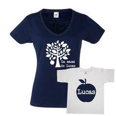 Set de camisetas para madres e hijos. Divertido set de camisetas para  madres con hijos 0a206ef0152a3