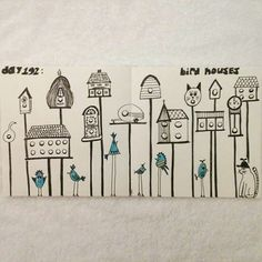 Day 192: bird houses #sketchbook #100dayproject
