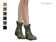 The Sims Resource: Military Boots by Ms Blue • Sims 4 Downloads