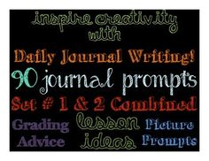 This product combines my two sets of journal prompts so the numbers run 1-90. Students are asked to write stories, give their opinions, write poetry, examine photos and so much more!
