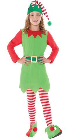 Girls Merry Elf Costume Child Christmas Santa's Little Helper Fancy Dress New Girl Elf Costume, Swat Halloween Costume, Girl Costumes, Halloween Costumes For Kids, Costume Ideas, Costumes Kids, Halloween Ideas, Costume Lutin, Elf Clothes