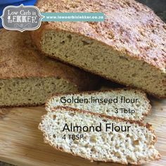 Victory bread - Sourdough type LCHF bread - Low Carb is Lekker - Low Carb is LEKKER Banting, Lchf, I Cant Even, Almond Flour, Healthy Fats, Low Carb Recipes, Banana Bread, Breads