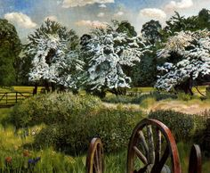 Still Life - Stanley Spencer - WikiArt.org. Marsh Meadows, Cookham, 1943.