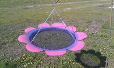 Recycled Tire Bird Feeder by JunkFX free shipping by Junkfx, $30.00