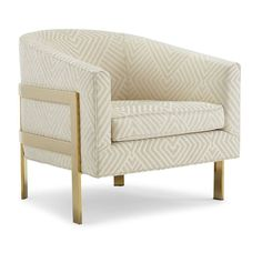 AVERY CHAIR POLISHED BRASS