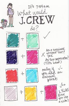 color combinations inspired by J.Crew