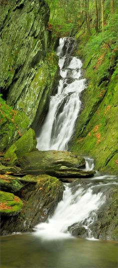 Tannery falls, waterfall, savoy state forest, Massachusetts,, photo