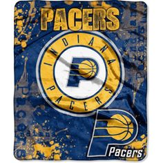 Northwest Indiana Pacers Dropdown Raschel Throw Blanket, Team