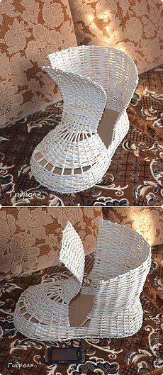 Мастер класс.  Страна Мастеров Paper Basket Diy, Basket Crafts, Basket Weaving, Wicker Baskets, Quilling, Techno, Diy Crafts, Cool Stuff, Crochet
