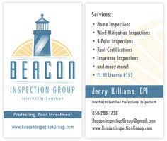 Home inspection business card business resources pinterest business card inspector business card design beacon inspection group colourmoves