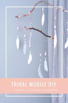 DIY tribal mobile for a nursery