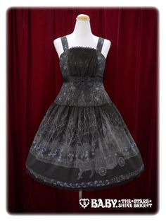 Alice and the Pirates - Funeral Procession of Rose ~ Aria Blooming In The twilight JSK I - black, navy, lolita, gothic, EGL