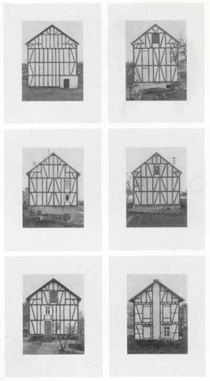Bernd and Hilla Becher, Framework Houses (detail), 1993