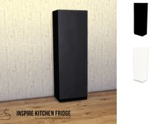 Fully functional, minimalist fridge with a shiny exterior and healthy interior. Comes in two swatches, black and white.  Found in TSR Category 'Sims 4 Large Appliances'