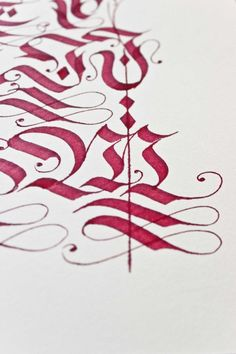 Diverse blackletter alphabets done with the parallel pen and pointed pen in 2012/13    Bertram Kaiser