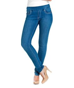 Love this Light Blue Skinny Jeans - Women & Plus by BLUBERRY DENIM on #zulily! #zulilyfinds