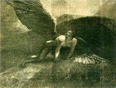 Fallen Angel - Odilon Redon Watchers in Testaments of the Twelve Patriarchs