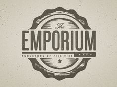 Emporium Pies logo by Scott Hill. Perfect rustic texture.