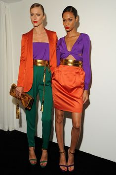Gucci Spring 2011 Ready-to-Wear Fashion Show Lila Outfits, Purple Outfits, Colourful Outfits, Mode Outfits, Fashion Outfits, Womens Fashion, Fashion Trends, Colour Combinations Fashion, Color Combinations For Clothes