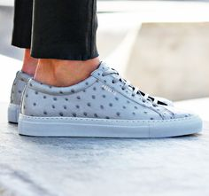 Launching today: womens ostrich embossed leather sneaker from Axel Arigato #axelarigato www.axelarigato.com