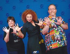 """Us with Alex Kingston (""""Doctor Who"""") at Wizard World Chicago 2017."""