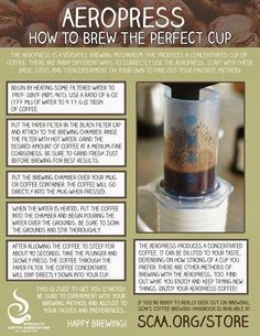 #coffee   #infographic   #SCAA   #aeropress
