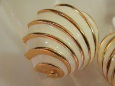 XX Pretty Vintage 1950's 60's Enamel Earrings 2097JL   eBay