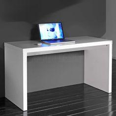 Computertafel Hoogglans Wit 140x60cm