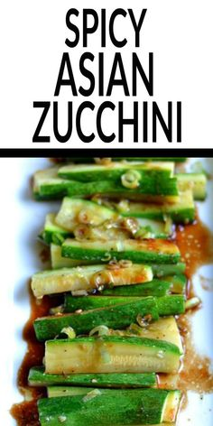 Simple but full of flavor, this Spicy Asian Zucchini is another wonderful, healthy side dish for you to try  It's ready in under 10 minutes too! #zucchinirecipes #healthy #easy #spicy Asian Side Dishes, Healthy Side Dishes, Vegetable Sides, Vegetable Side Dishes, Side Dish Recipes, Vegetable Recipes, Spicy Recipes, Asian Recipes, Cooking Recipes