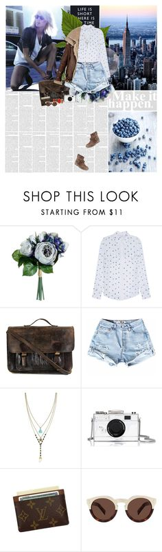 """""""Untitled #1826"""" by amimcqueen ❤ liked on Polyvore featuring Paul & Joe, Priestley's Vintage, Cordani, Louise et Cie, Kate Spade, Louis Vuitton, Illesteva, women's clothing, women and female"""