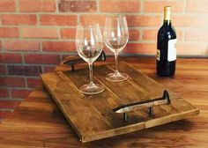A #ServingTray is a MUST in every household!    #BreakfastInBed #Handcrafted #HandMade #MadeInUSA #Wood #WoodenDecor #HouseholdItems #GrainAndForgeCollection #GrainAndForge #OnlineShopping