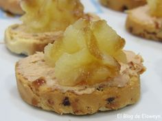 El Blog de Eloweyn: Canapés de foie con manzana caramelizada y reducción de Pedro Ximenez
