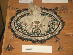 Hungarian tobacco pouch. The Ethnographic Museum Budapest, Hungary.