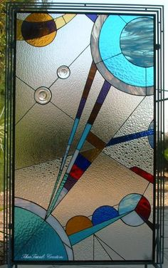 'kandinsky' inspired stained glass panel                                                                                                                                                     More