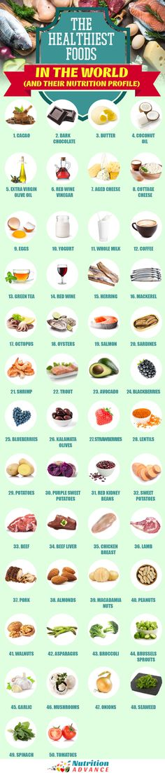 50 of the world s healthiest foods and drinks