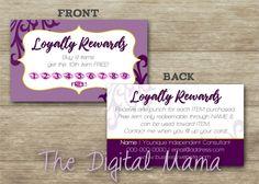 nail salon loyalty punch card nail salon business card design