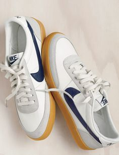 Out of the J.Crew men's vault: Like a pro athlete who keeps coming out of retirement (because he's all about the fans), Nike's Killshot is back—beloved by indie filmmakers, hip-hop artists, sneakerheads and guys who just want a clean dress sneaker.