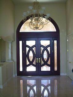Elegant Front Doors Patio Entrance Doorway Wood Exterior Door