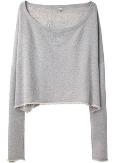 R13 | boatneck sweatshirt pullover