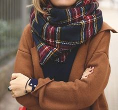 fall plaid scarf